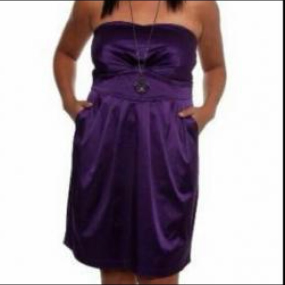 torrid Dresses | Purple Strapless Dress Size